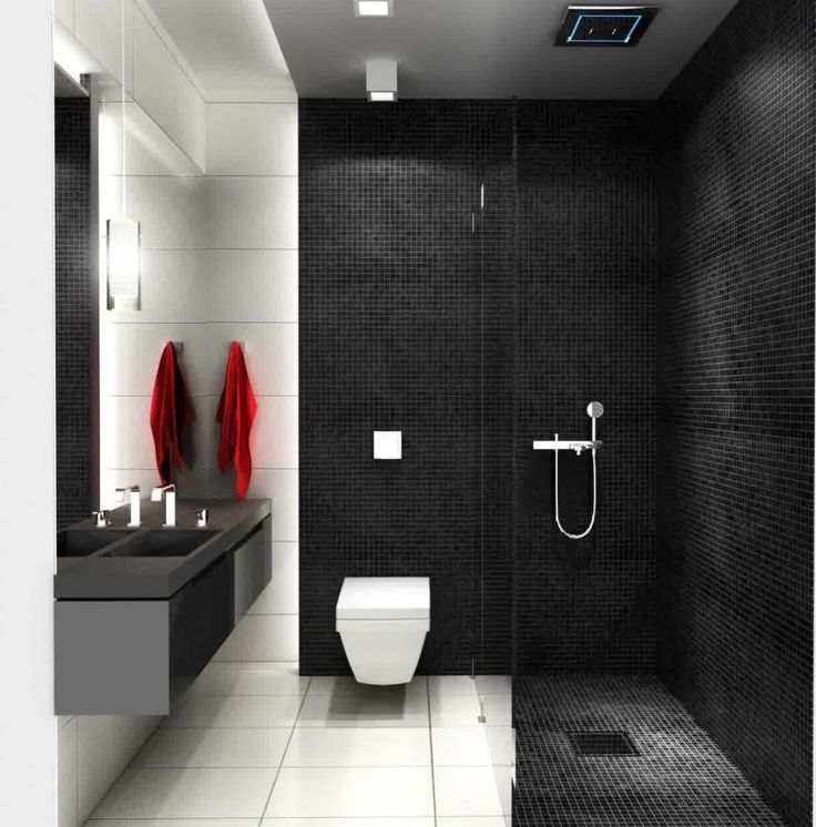 ... Bad Schwarz Weiss Fliesen Modern. A Wonderful Black And White Bathroom  A Wonderful Black And White Bathroom With White Water.