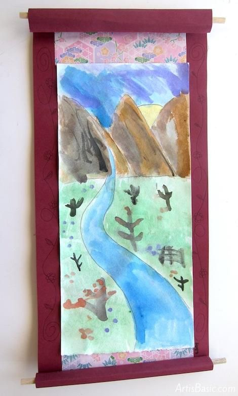 Chinese Landscape Scroll Paintings for 3rd Grade - Art is Basic