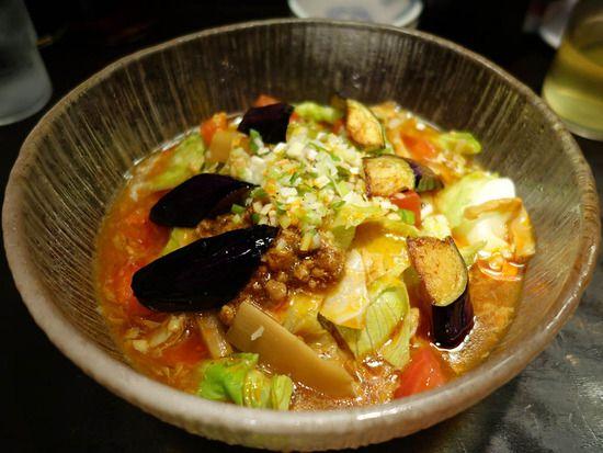 夏野菜の冷やし酸辣湯麺