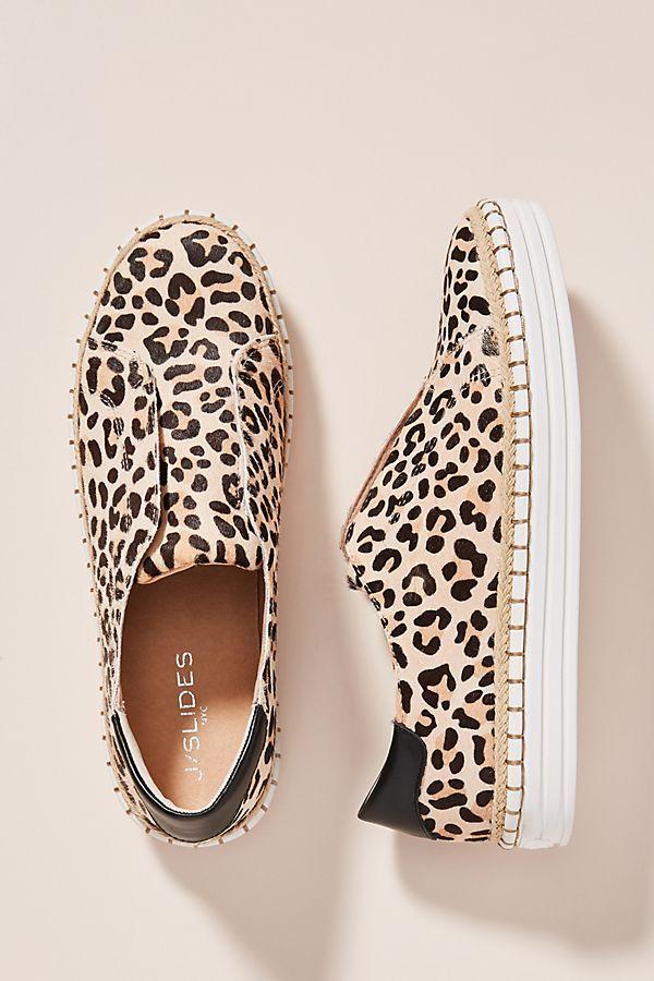 J/Slides Leopard-Printed Slip-On