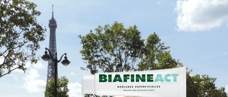#Biafine is recommended in French pharmacies for first degree burns, suburns and to help heal wounds