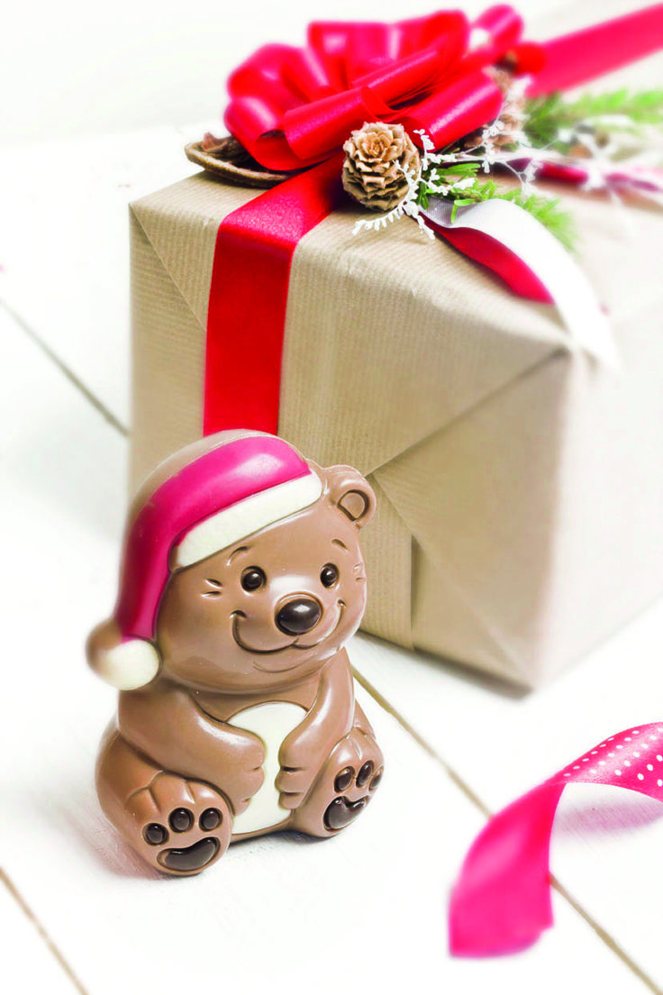 Christmas Chocolate Teddy Bear #christmas #chocolate #gifts #present #giftsideas #chocolissimo