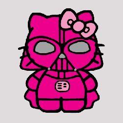 Hello kitty star wars pink darth vader lt pink bow 6 - Dark vador hello kitty ...