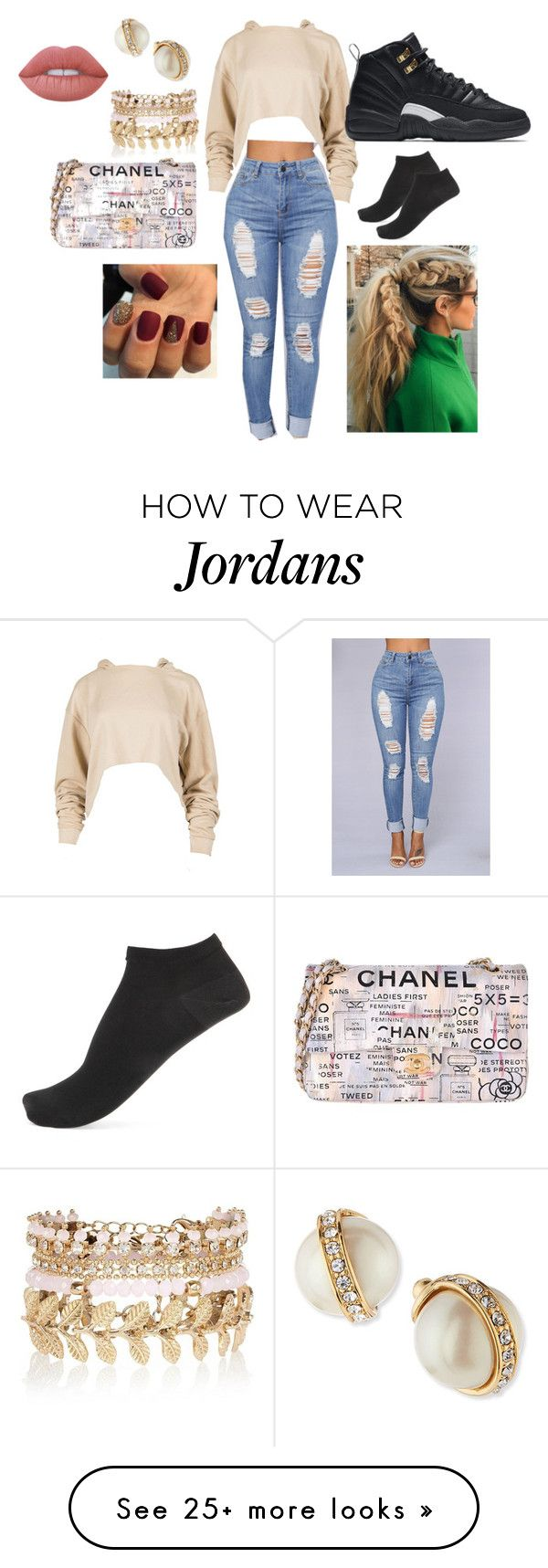 Another Day, Another Boss by jaemac1022 on Polyvore featuring NIKE, River Island, Kate Spade, Wolford, Chanel and Lime Crime