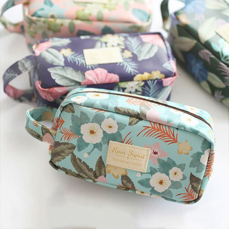 Vintage Floral Pencil Case Simple Large Capacity School Case  Pencil Bag Stationery School Supplies