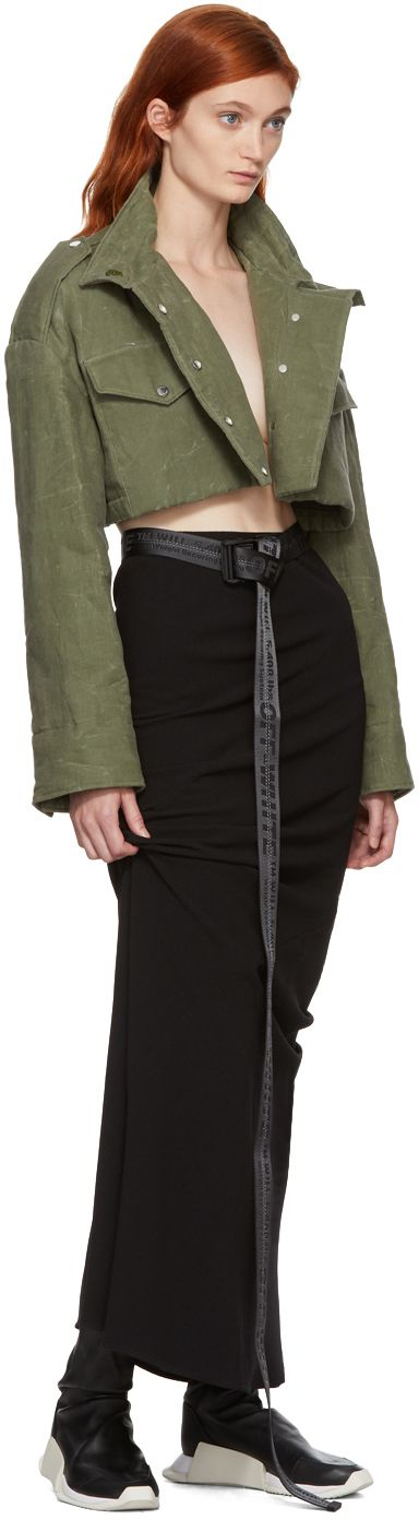 Off-White - Green Cropped Canvas M65 Jacket