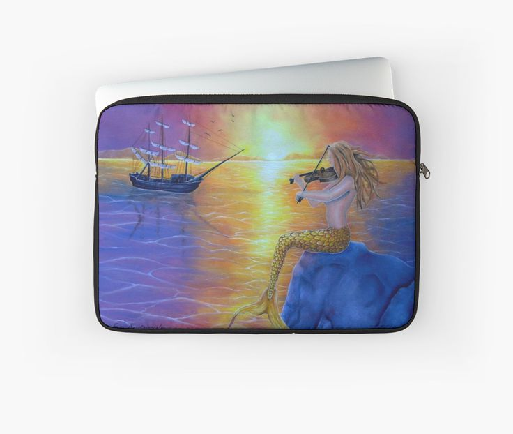 Laptop Sleeve,  mermaid,fantasy,colorful,purple,unique,cool,beautiful,trendy,artistic,unusual,accessories,design,items,products,for sale,redbubble