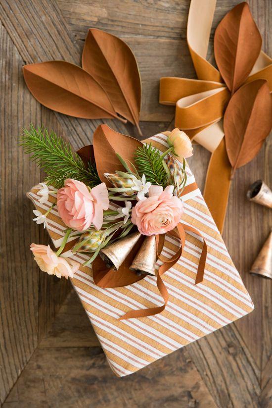 Inspiración para envolver regalos en otoño