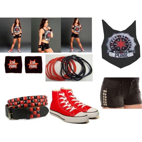 AJ Lee CM Punk Outfits
