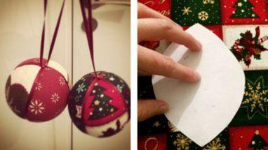 Comment fabriquer des boules de Noël en tissus | BricoBistro