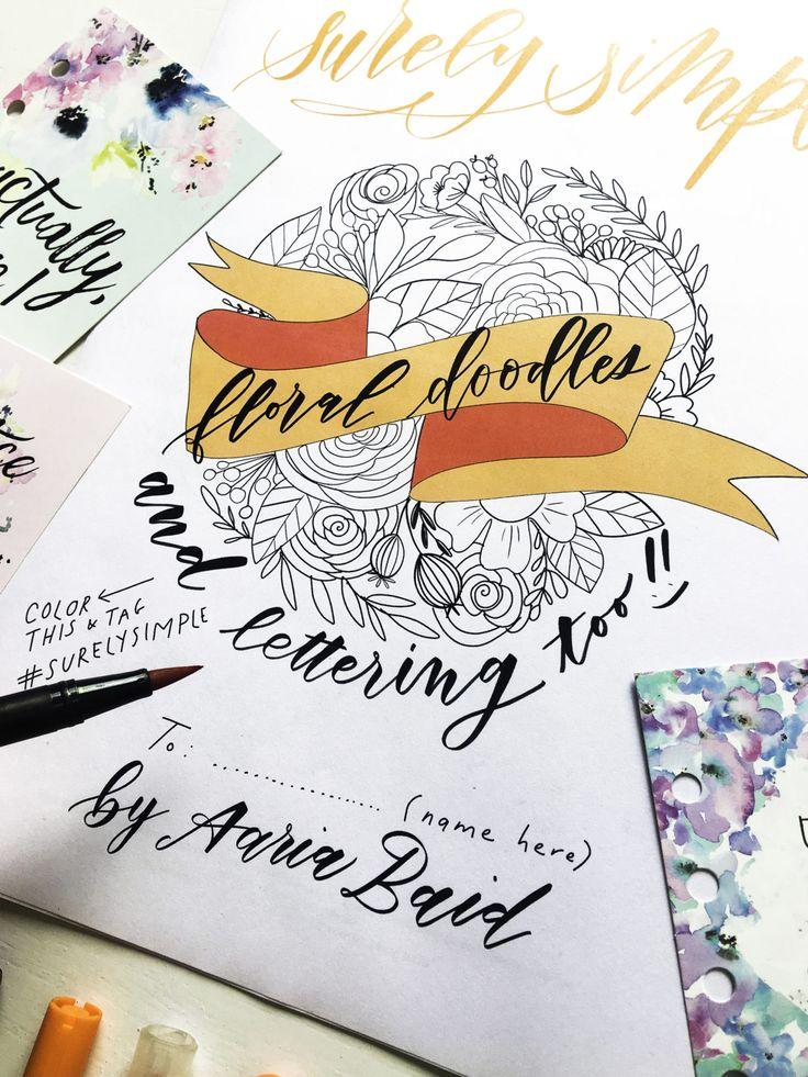 Free Download Surely Simple Floral Doodles Worksheet Via