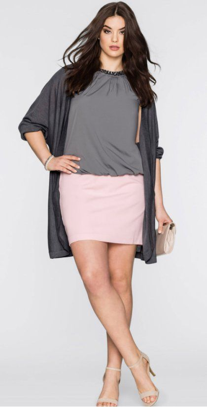 Стильные юбки больших размеров онлайн от bonprix!