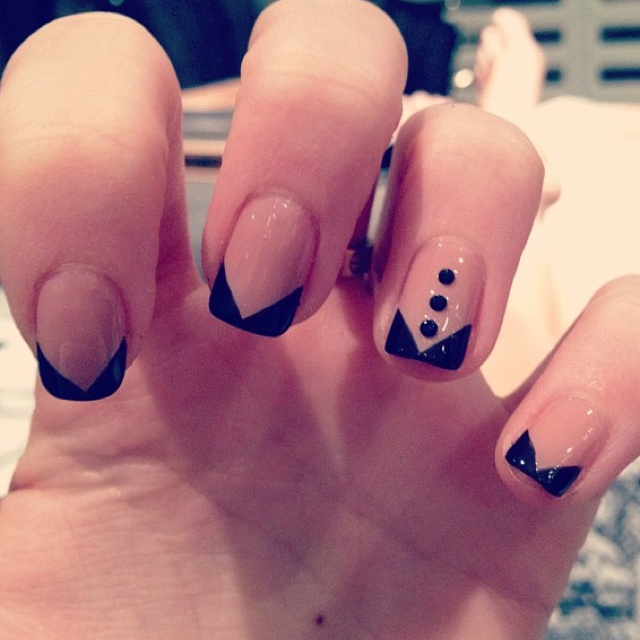 tuxedo nails. bacholerette party