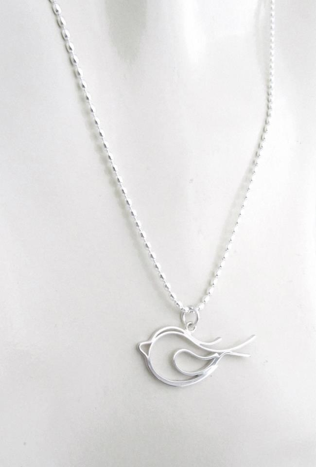 Memory necklace. Sterling Silver.