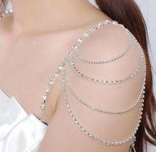 1 par elegante cadena de la manera correas de hombro del sujetador del rhinestone correas nupcial lencería correa de la correa al por mayor(China (Mainland))