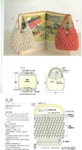 как связать сумочку с ягодками