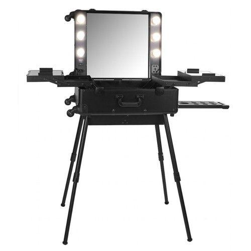 Hollywood Folding Dressing Table Makeup Case Black | Buy Health & Beauty