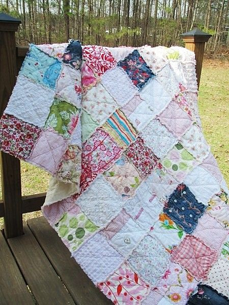 Twin Size Memory Quilt-quilts memory quilts patchwork blanket rag quilt heirloom yesteryear tshirt quilt red orange personal touches memories baby clothing quilt pink white shabby handmade