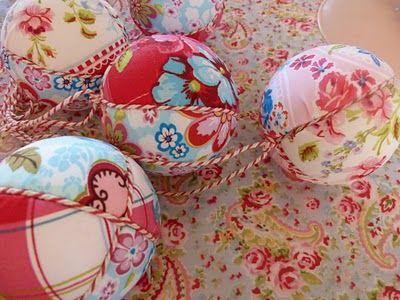 Ilona's blog: Tutorial fabric balls, Uitleg stoffen piepschuim ballen