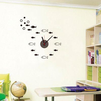 Fish clock Animal pattern  Wall sticker
