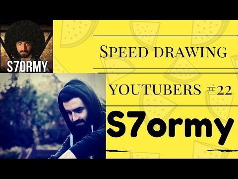 Speed Drawing Youtubers #22 - S7ormy