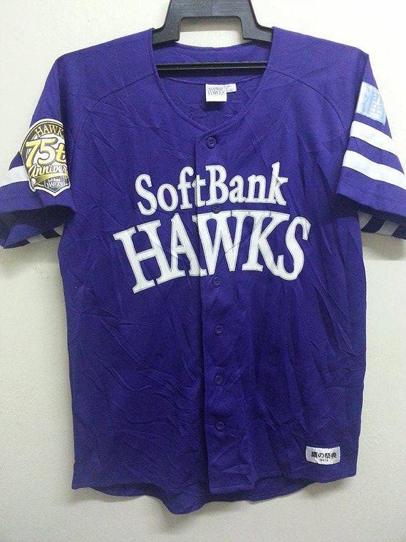 SALE MLB Fukuoka SoftBank Hawks 75th Aniversarys by SuzzaneVintage
