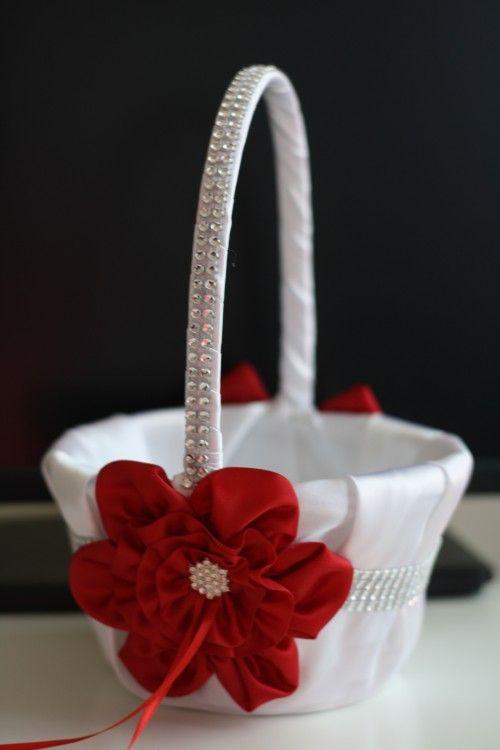 31 best flower girl basket images on pinterest flower girl basket red wedding pillow basket accessories set wedding flower girlsred mightylinksfo