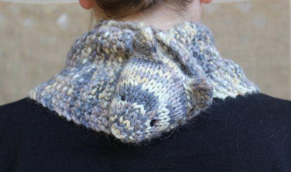 Neko Cowl the cozy cat cowl knitting pattern by WanderlustWoolves