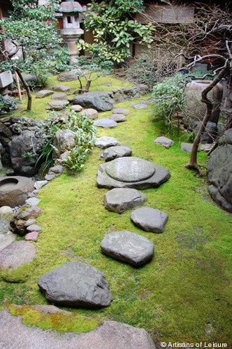 A beautiful Japanese rock garden.