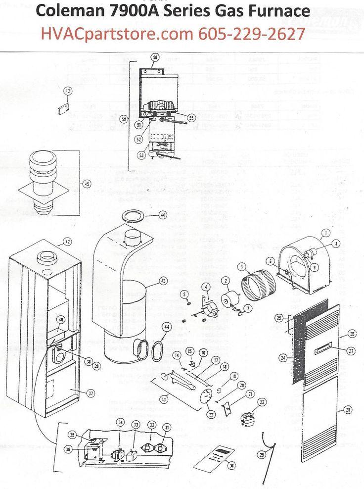 7966A856 Coleman Gas Furnace Parts