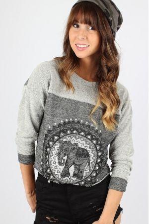 Elephant Sweater $29.99 #elephant #sweater #elephantsweater #sophieandtrey