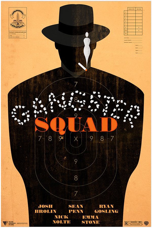 Gangster Squad (2013) ~ Minimal Movie Poster by Ben Whitesell #amusementphile
