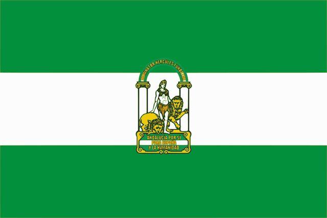 Día de Andalucía: bandera oficial con escudo