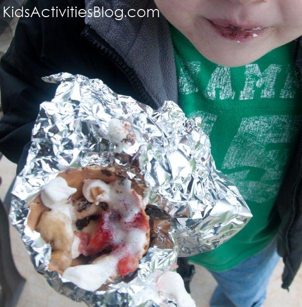Camp Fire Food: Fruit & Smore Cones - Kids Activities Blog