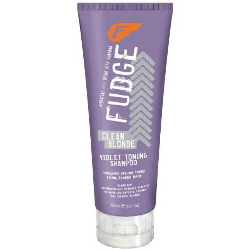Fudge Clean Blonde Violet Toning Shampoo. THE BEST TONING SHAMPOO. Gets brassy yellows out!