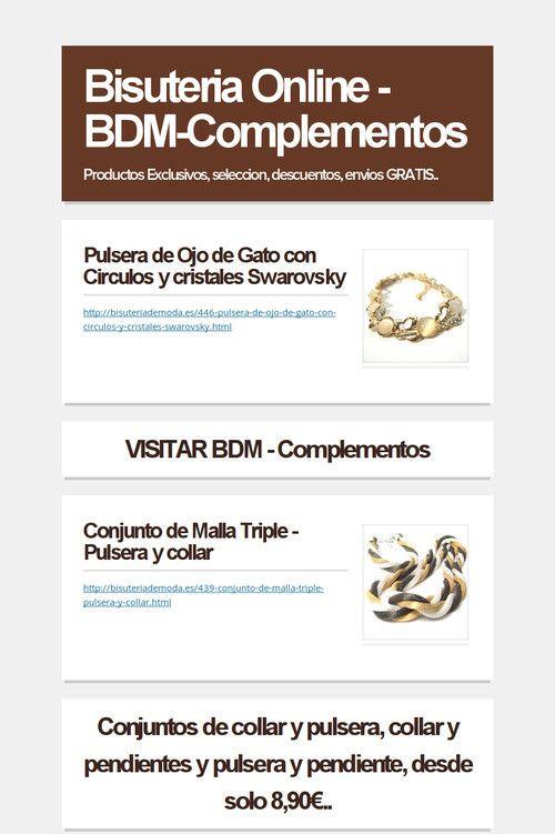 Bisuteria Online - BDM-Complementos - http://bisuteriademoda.es/content/65--bisuteria-online-bdm-complementos-productos-exclusivos-seleccion