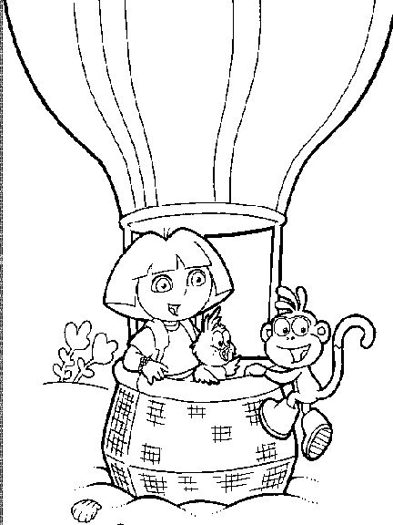 14 best Dora Coloring Pages images on Pinterest  Coloring pages