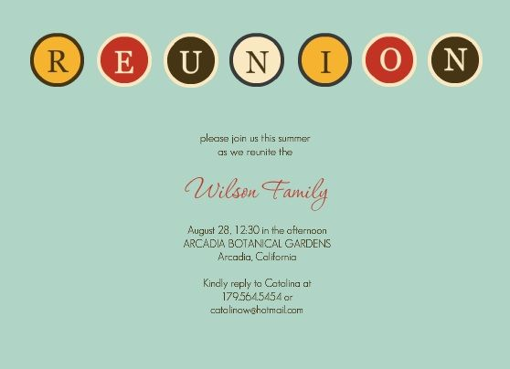 Family Reunion Invitation Ideas Family Reunion Potluck Picnic