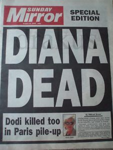 August 31, 1997: Princess Diana dies in a car accident in Paris