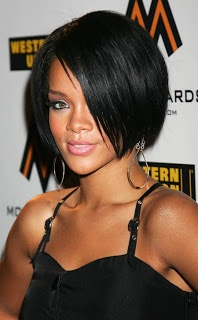 Rihanna short bob