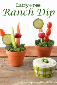 Garden Party Dairy-Free Ranch Dip | Healthy Ideas for Kids
