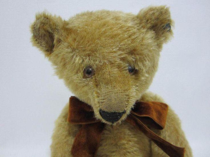 "STEIFF Antique Teddy Bear 12.5"" FF Button Glass Eyes Sweet Face #Steiff"