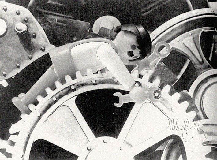 Playmobil by Richard Unglik / Les Temps Modernes, #Chaplin / Modern Times