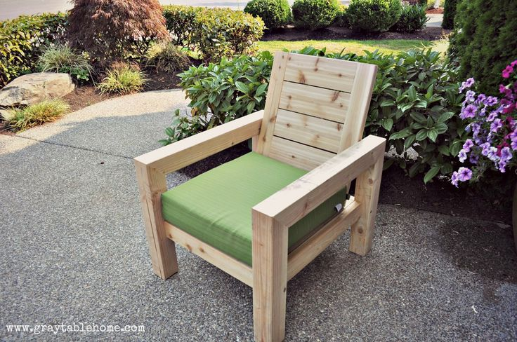 DIY Modern Rustic Outdoor Chair | Do It Yourself Home Projects from Ana White