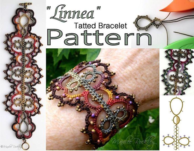 PDF Tatting Pattern Linnea tatted bracelet pattern door yarnplayer