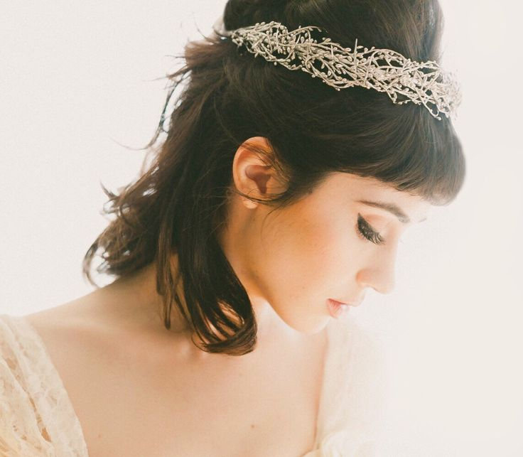 Wired woodland crown, GOLD or SILVER, Golden bridal headpiece, Silver wedding crown, Gold bridal head piece, Winter wedding crown by whichgoose on Etsy https://www.etsy.com/listing/240433233/wired-woodland-crown-gold-or-silver