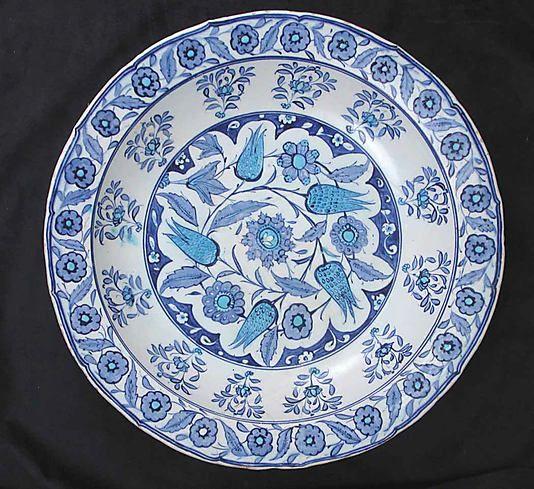 Bowl | Iznik, Turkey, mi-16th century | Stonepaste; painted and glazed | The…