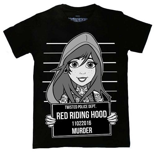 Roodkapje tattoo mugshot unisex T-shirt zwart - Disney