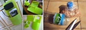 objetos prácticos con botellas de plástico