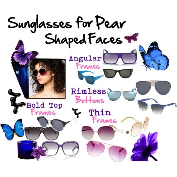 Let's Go Shopping for Shades: Sunglasses for Pear Shaped Faces by hotchixrock on Polyvore featuring Marc by Marc Jacobs, Miso, Dolce&Gabbana, Valentino, Gucci, Balenciaga, Retrò, RetroSuperFuture, Models Own and iittala